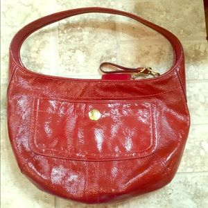 COPY - Coach Red Patent Leather Handbag
